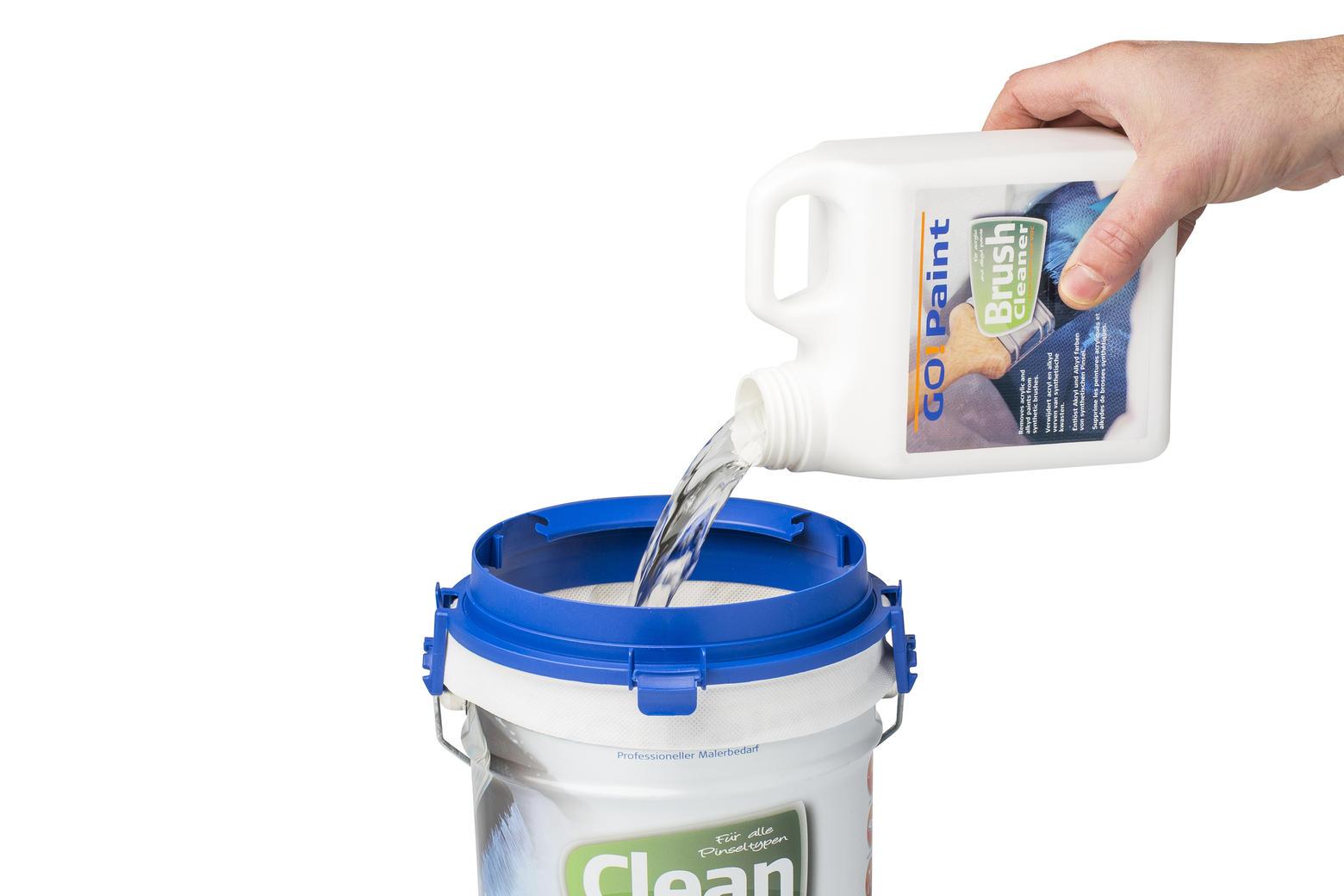 Reinigungsflüssigkeit kann öfters benutzt werden, Pinsel bleiben länger in guter Kondition.