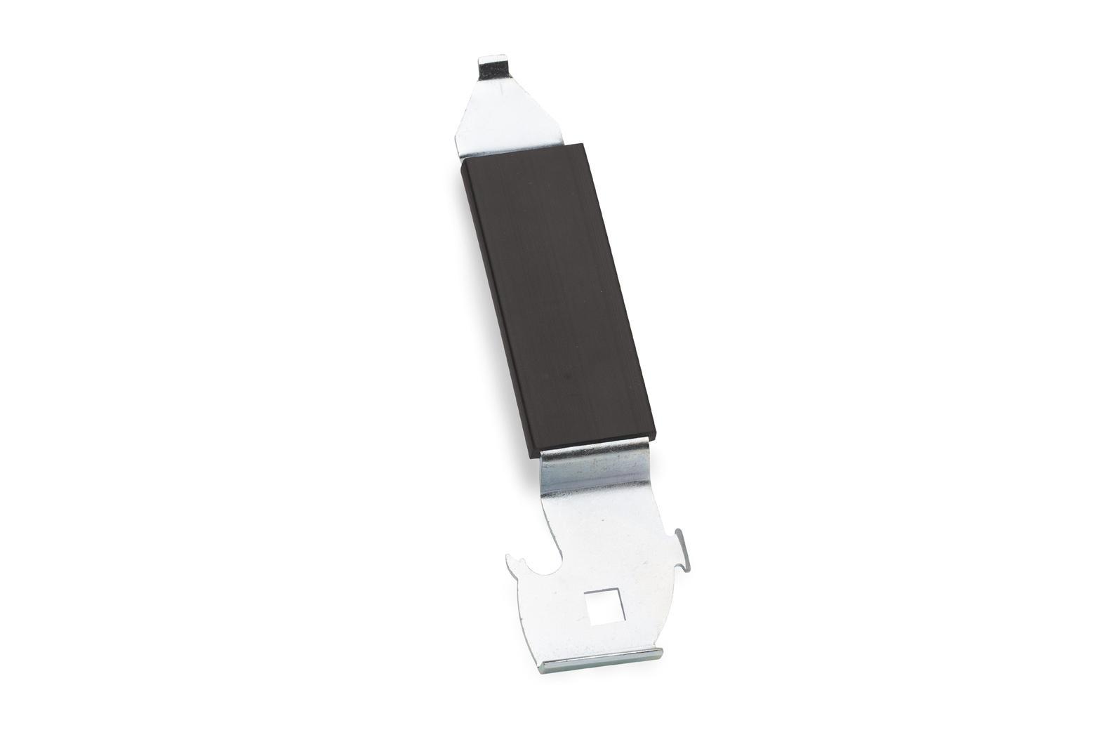 Stevige opener met gebruiksvriendelijk handvat voor het snel en veilig openen van alle soorten blikverpakkingen.