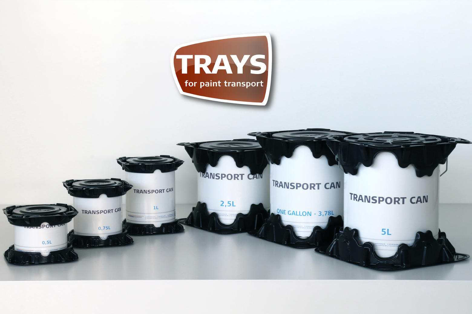 Verzendverpakkingen voor alle maten verfblikken.