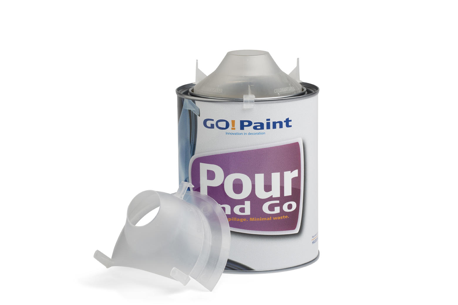 Easy pouring of paint from a paint can, emptying without making a mess.