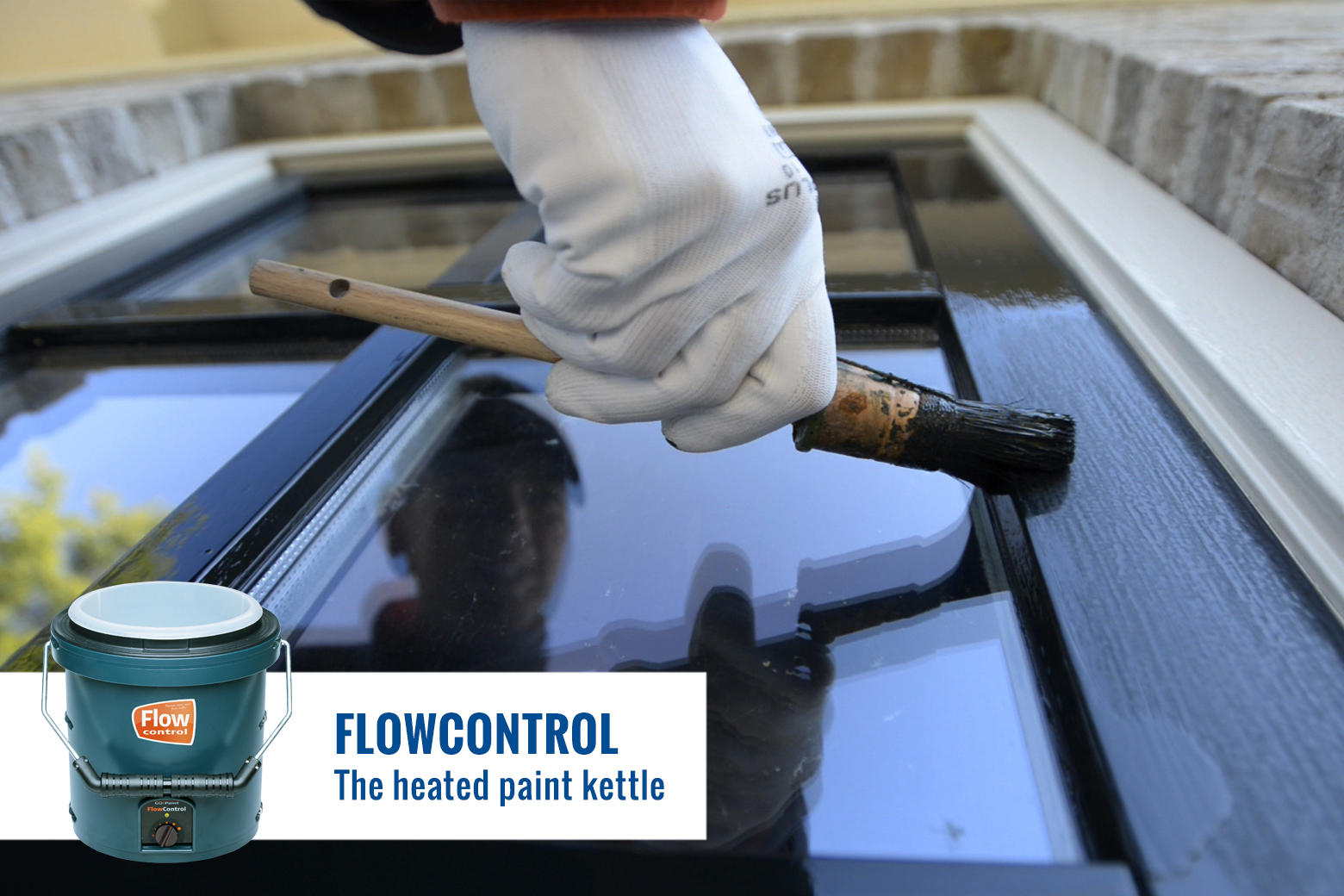 Get better paint flow by warming up the paint to 18-30 degrees Celsius.