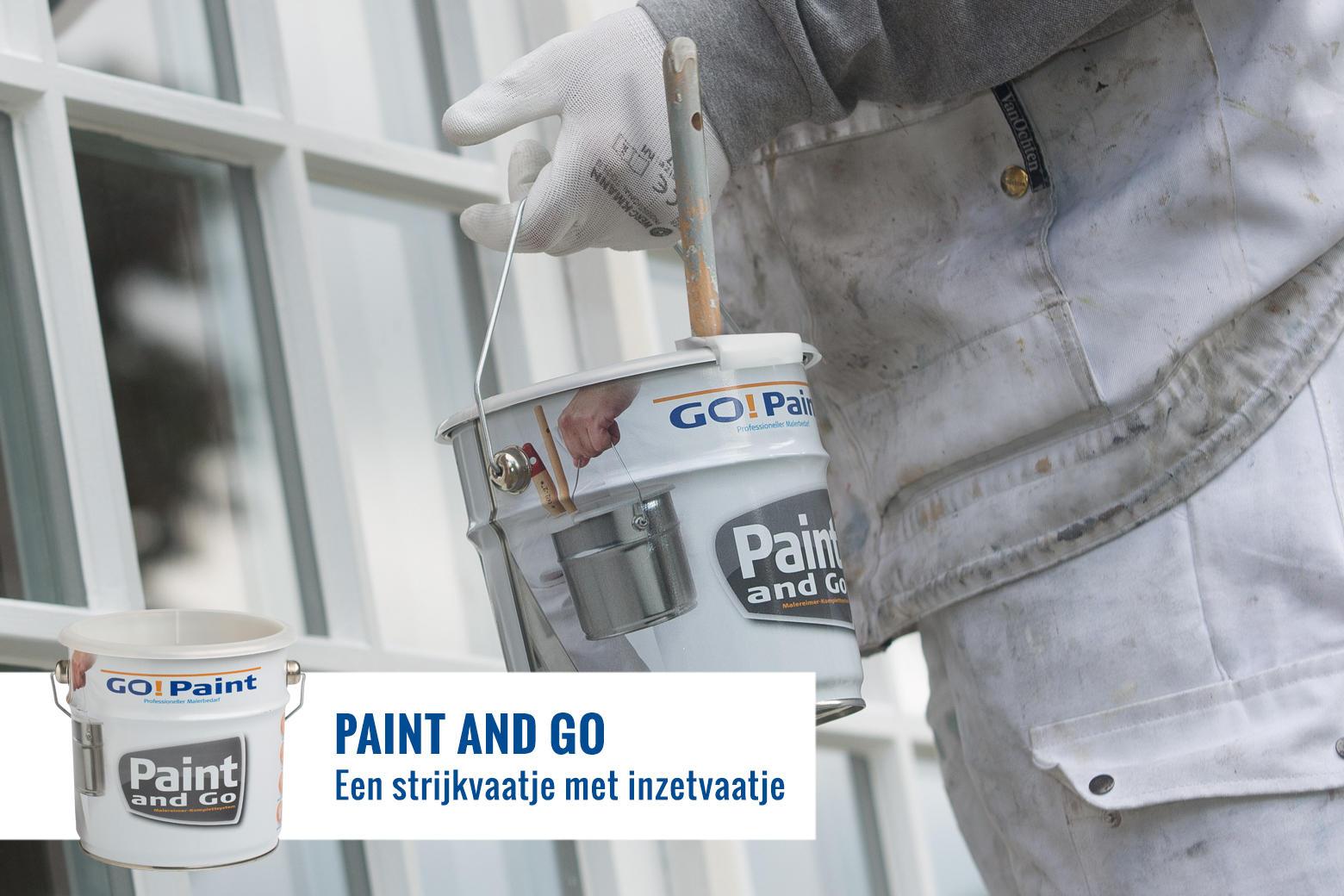 De professionele schilder gebruikt een verzetblik met inzetvaatjes voor vrijwel elke klus.