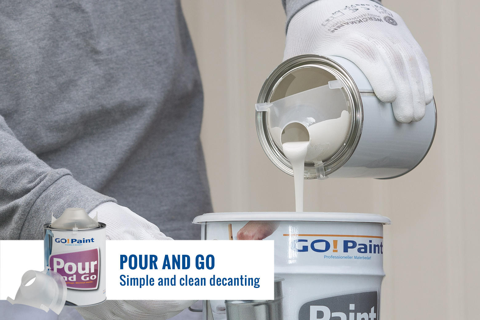 Perfect pouring and dosing of paint and lacquers.