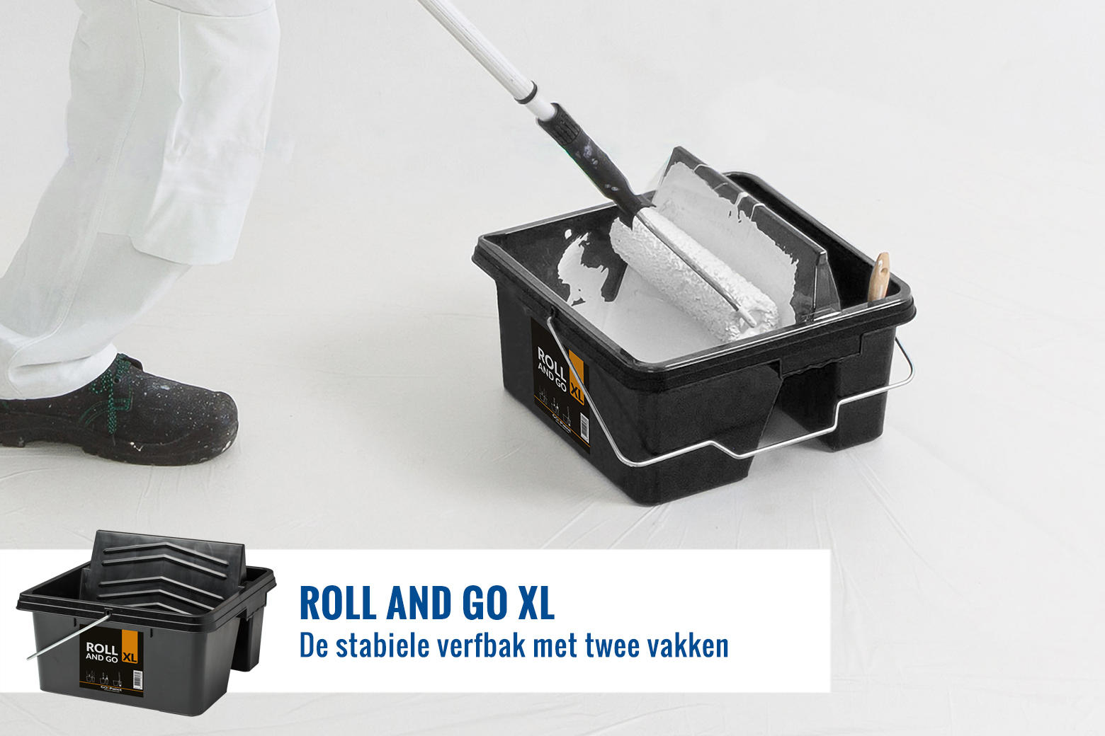 De Roll and Go XL is de stevigste verf rolbak die je kan kopen.