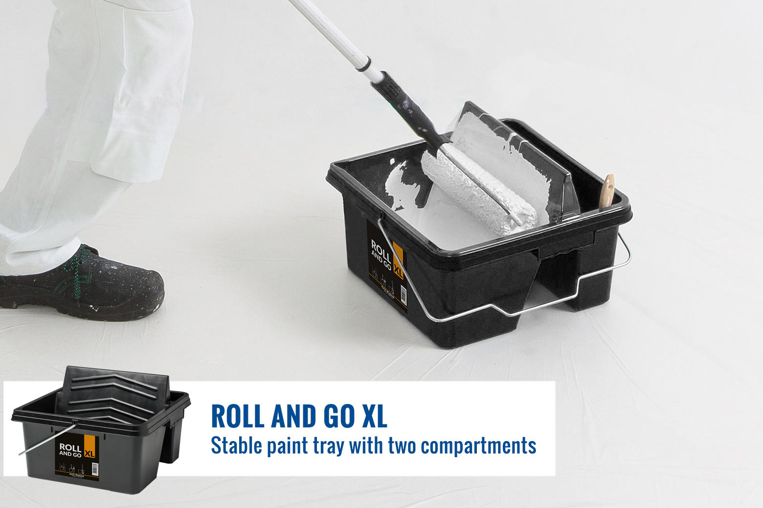 Excellent for painting walls, floors and ceilings with a telescope pole.