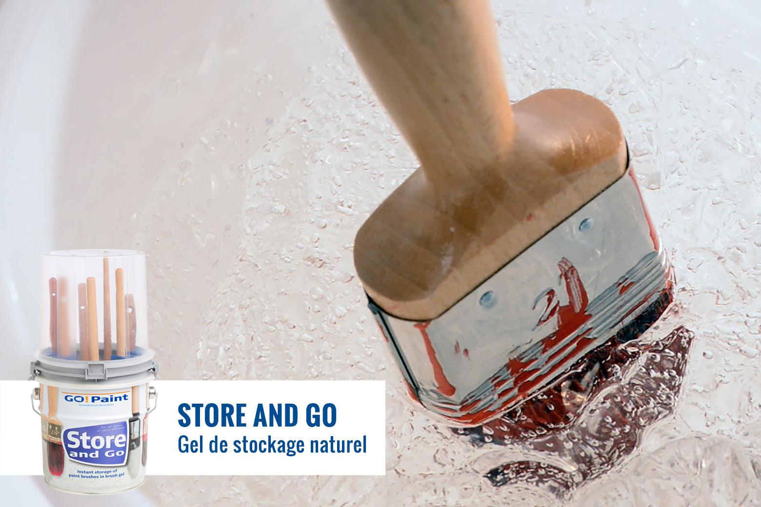 Le système Store and Go conserve tous les pinceaux en parfait état