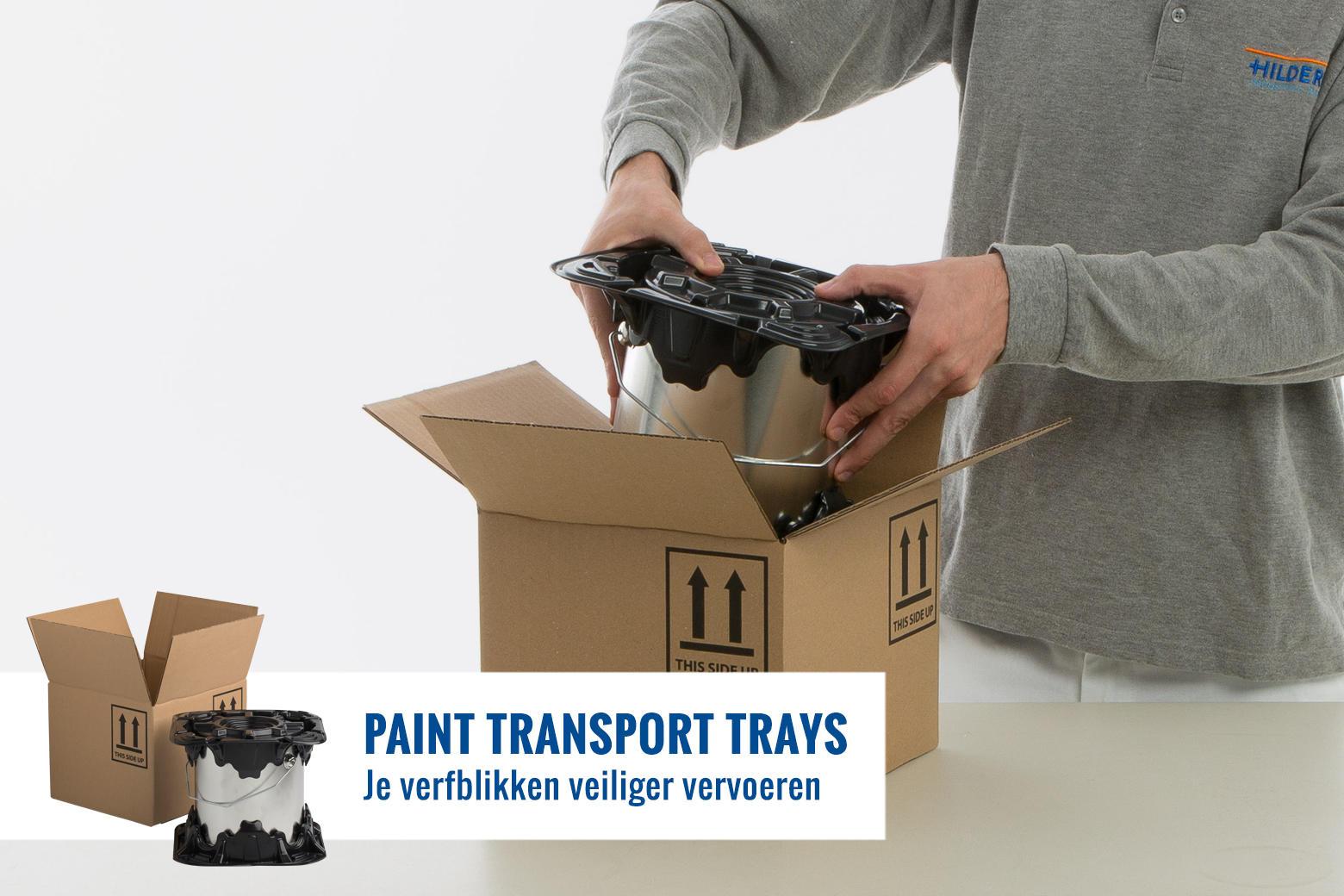 Sneller en veiliger inpakken en verzenden van verfblikken.