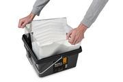 Les contenants jetables on peut faire petit facilement avant que les jeter.