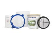 Clean and Go bestaat uit een filterzak met verhoogde zeef, een gecoat blik een kunststof ring en een deksel.