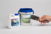 Kwasten snel schoon met BrushCleaner in een Clean and Go, de verfkwast wordt diep gereinigd.