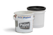 The Paint and Go is a paint kettle containing a plastic liner that can be closed with a lid for overnight storage.