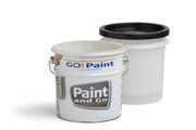 Elke professionele schilder werkt ermee: een strijkvaatje met inzetvaatjes voor snelle wissel van de inhoud.