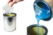 Totally emptying a paint can with a Pour and Go is very easy and clean.