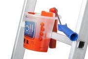 Een Roll and Go zet je eenvoudig op een sport van een ladder.