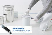 Vous ouvrez aussi facilement les pots de peinture ordinaires que les bagues fermées mécaniquement ou les couvercles à languette.
